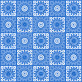 Background with abstract blue pattern Royalty Free Stock Images