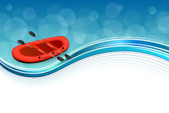 Background abstract blue rafting boat red sport frame illustration Royalty Free Stock Photos