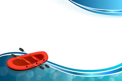 Background abstract blue rafting boat red sport frame illustration Stock Photo