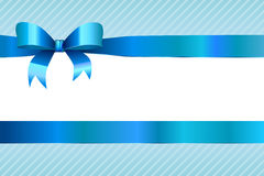 Background abstract blue strips pattern with bow Royalty Free Stock Photos