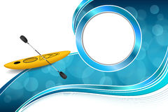 Background abstract blue yellow kayak sport circle frame illustration Royalty Free Stock Images
