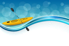Background abstract blue yellow kayak sport frame illustration Stock Photography