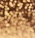 Background abstract bokeh. Golden color Royalty Free Stock Image