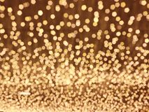 Background abstract bokeh. Golden color Stock Photography