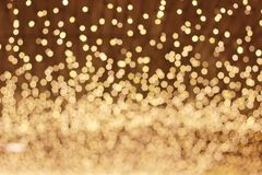 Background abstract bokeh. Golden color Royalty Free Stock Images