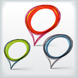 Background of abstract bubble. Background of abstract talking bubble Stock Photography