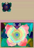 Background with abstract butterfly Royalty Free Stock Images