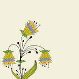 Background  with abstract cartoon  flowers . Stock Images