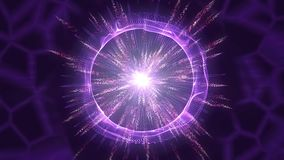 Background abstract circle animation. Particle explosion looping. royalty free illustration