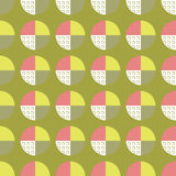 Background with abstract circle. Decorative seamless vector background with abstract circle pattern Stock Photography