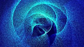 Background of abstract circles in blue color stock video footage