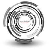 Background  abstract. Background with circular abstract lens design, vector illustration Royalty Free Illustration
