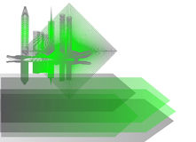 Background with abstract city Stock Photos