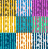 Background, abstract, colored squares with stripes. Stock Photo
