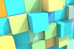 Background with abstract cubes. Royalty Free Stock Image