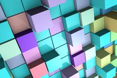 Background with abstract cubes. Royalty Free Stock Photos