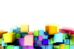 Background with abstract cubes. Stock Photography