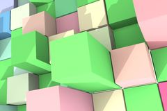 Background with abstract cubes. Stock Image