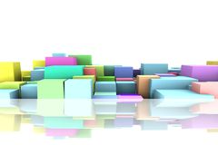 Background with abstract cubes. Royalty Free Stock Photography