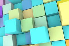 Background with abstract cubes. Stock Photos