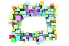 Background with abstract cubes. Royalty Free Stock Images