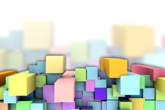 Background with abstract cubes. Royalty Free Stock Photo