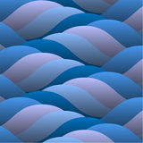 Background of abstract curled blue waves Royalty Free Stock Photos
