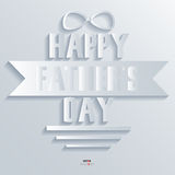Background Abstract 3D Design Vector Illustrations Happy father day Stock Images