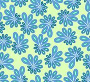 Background in abstract design with blue and green asymmetric fowers Stock Photo