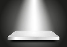 Blank podium 3D. Presentation template for your pr Royalty Free Stock Images