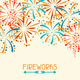 Background with abstract fireworks and salute. Background design with abstract fireworks and salute Royalty Free Stock Photo