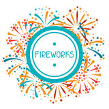 Background with abstract fireworks and salute Royalty Free Stock Images