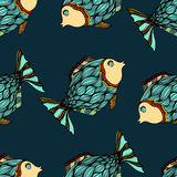 Background of abstract fish. Seamless background of abstract fish. Vector illustration Royalty Free Stock Photos