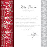Background with abstract floral rose pattern and white part for your text Royalty Free Stock Images