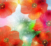 Background with abstract flower Stock Photography