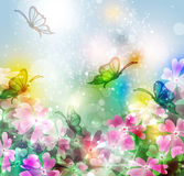 Background with abstract flower Stock Image