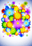 Background with abstract flowers Stock Photography