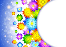 Background with abstract flowers Stock Photos