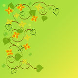 Background of abstract flowers and leaves. Calligraphy Royalty Free Illustration