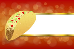 Background abstract food taco red yellow gold stripes frame illustration Stock Photos
