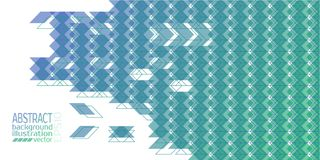 Background abstract geometric blue made of rhombuses triangles and stripes vector.  Stock Illustration