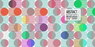 Background abstract geometric multicolored of circles and stripes vector lines.  Stock Photos