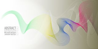 Background abstract geometric multicolored of out strips and lines vector.  Stock Photography