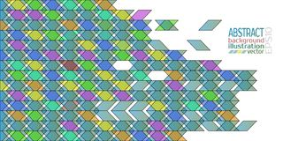Background abstract geometric multicolored of rhombuses triangles and stripes vector.  Royalty Free Stock Photo