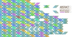 Background abstract geometric multicolored of rhombuses triangles and stripes vector.  Royalty Free Stock Images