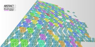 Background abstract geometric multicolored of rhombuses triangles and stripes vector.  Royalty Free Stock Image