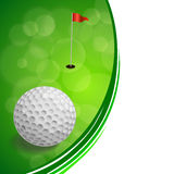 Background abstract golf sport green red flag white ball frame illustration Stock Images