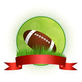 Background abstract green American football ball illustration circle red tape frame Stock Photos