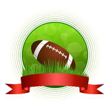 Background abstract green American football ball illustration circle red tape frame Stock Images