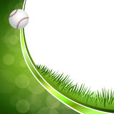 Background abstract green baseball ball circle ribbon frame illustration Royalty Free Stock Photos